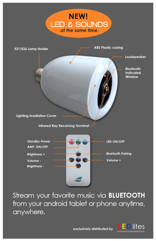 Led & Sound Audio Speaker
