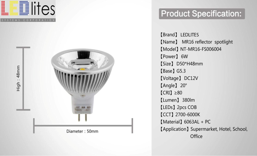 LEDLITES new COB reflector spotlight--7